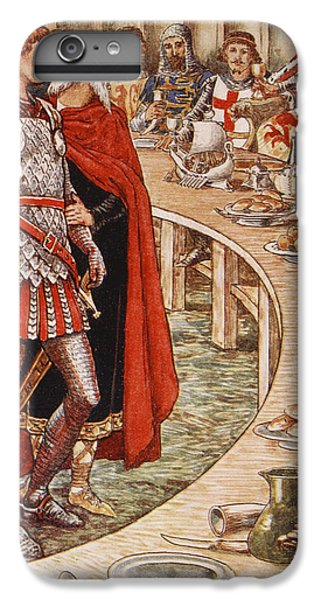 Sir Galahad Is Brought To The Court Of King Arthur IPhone 7 Plus Case by Walter Crane