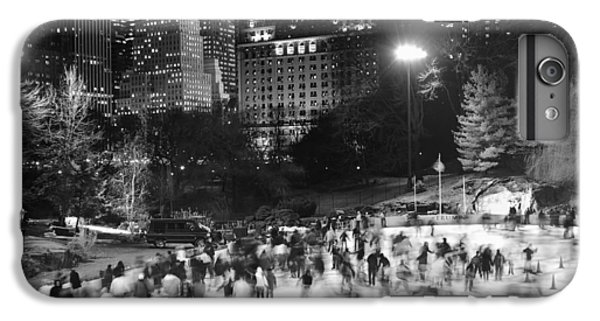 IPhone 7 Plus Case featuring the photograph New York City - Skating Rink - Monochrome by Dave Beckerman