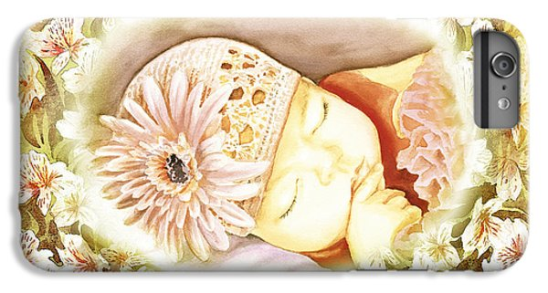 IPhone 7 Plus Case featuring the painting Sleeping Baby Vintage Dreams by Irina Sztukowski