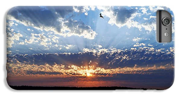 IPhone 7 Plus Case featuring the photograph Soaring Sunset by Anthony Baatz