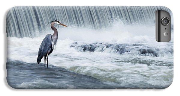 Heron iPhone 7 Plus Case - Solitude In Stormy Waters by Mircea Costina