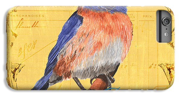 Bluebird iPhone 7 Plus Case - Colorful Songbirds 1 by Debbie DeWitt