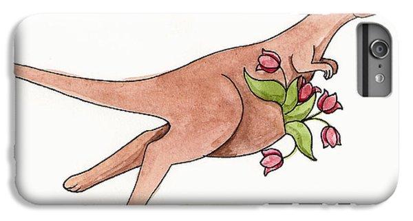 Kangaroo iPhone 7 Plus Case - Springtime Kangaroo by Christy Beckwith
