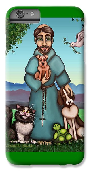 St. Francis Libertys Blessing IPhone 7 Plus Case by Victoria De Almeida
