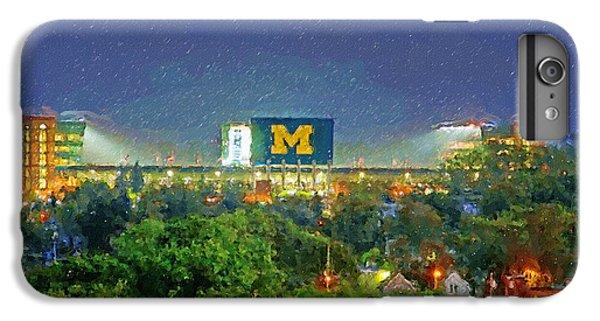 University Of Michigan iPhone 7 Plus Case - Stadium At Night by John Farr
