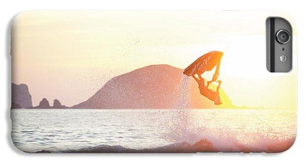 Jet Ski iPhone 7 Plus Case - Stand Up Jet Ski Backflip At Sunset by Marcos Ferro