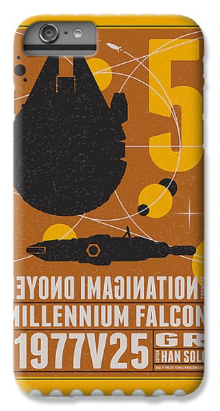 Falcon iPhone 7 Plus Case - Starschips 05-poststamp -star Wars by Chungkong Art