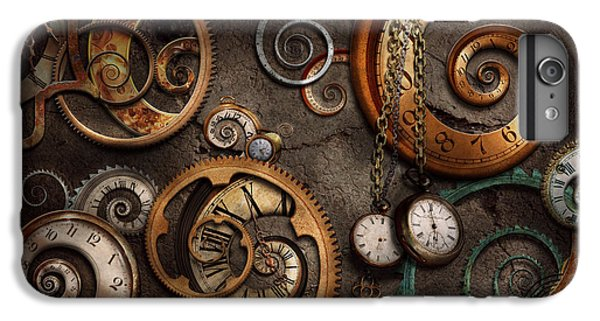 Time iPhone 7 Plus Case - Steampunk - Abstract - Time Is Complicated by Mike Savad