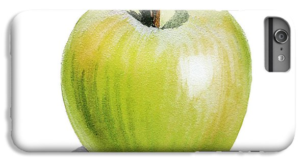 IPhone 7 Plus Case featuring the painting Sun Kissed Green Apple by Irina Sztukowski