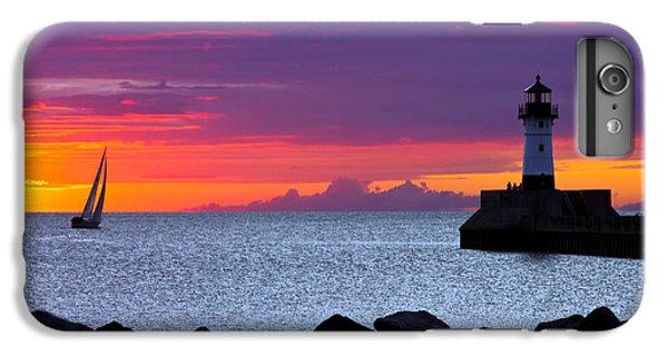 Lake Superior iPhone 7 Plus Case - Sunrise Sailing by Mary Amerman