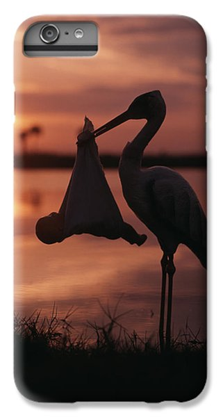 Sunrise Silhouette Of Stork Carrying IPhone 7 Plus Case