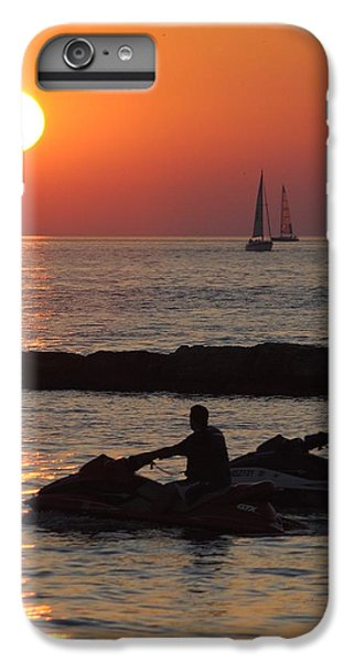Jet Ski iPhone 7 Plus Case - Sunset Silhouette by Frozen in Time Fine Art Photography