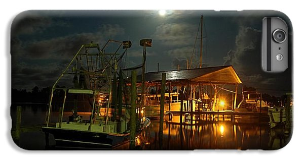 Shrimp Boats iPhone 7 Plus Case - Super Moon At Nelsons by Michael Thomas