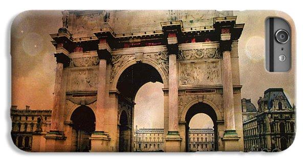 Louvre Museum Arc De Triomphe Louvre Arch Courtyard Sepia- Louvre Museum Arc Monument IPhone 7 Plus Case