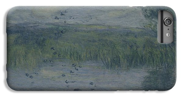 Swallow iPhone 7 Plus Case - Swallows Oil On Canvas by Edmond-Francois Aman-Jean