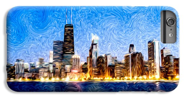 Swirly Chicago At Night IPhone 7 Plus Case