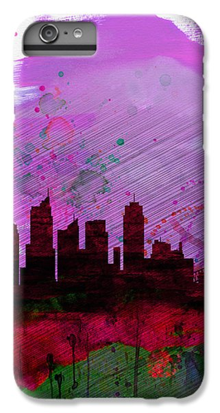 Sydney Skyline iPhone 7 Plus Case - Sydney Watercolor Skyline 2 by Naxart Studio
