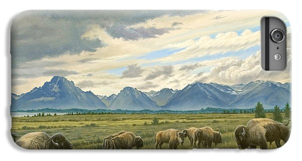 Tetons-buffalo  IPhone 7 Plus Case by Paul Krapf