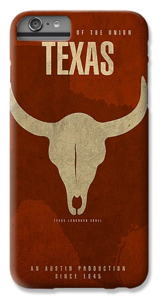 Texas State Facts Minimalist Movie Poster Art  IPhone 7 Plus Case by Design Turnpike