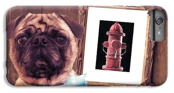 Pug iPhone 7 Plus Case - The Artist And His Masterpiece by Edward Fielding