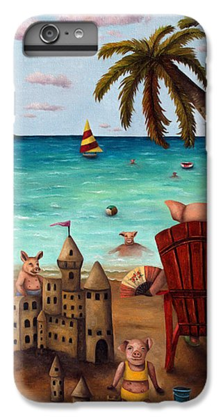 Jet Ski iPhone 7 Plus Case - The Bacon Shortage Brighter by Leah Saulnier The Painting Maniac