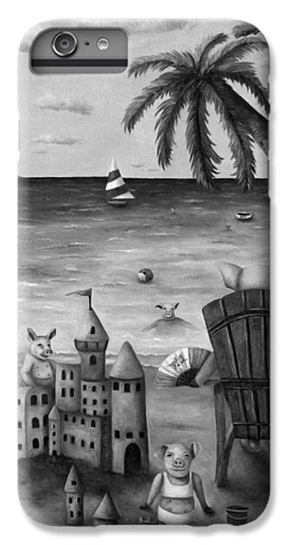 Jet Ski iPhone 7 Plus Case - The Bacon Shortage In Bw by Leah Saulnier The Painting Maniac