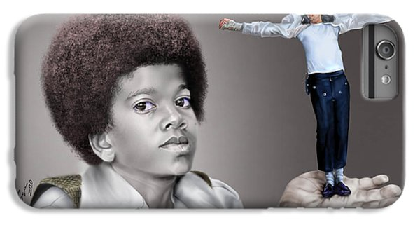 Michael Jackson iPhone 7 Plus Case - The Best Of Me - Handle With Care - Michael Jacksons by Reggie Duffie