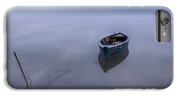 Boats iPhone 7 Plus Case - The Blue Boat by Joaquin Guerola