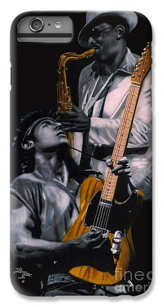 Bruce Springsteen iPhone 7 Plus Case - Bruce Springsteen And Clarence Clemons by Thomas J Herring