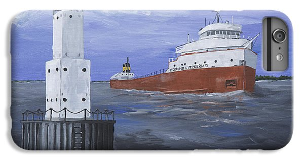Lake Superior iPhone 7 Plus Case - The Fitz Departs Escanaba by Jerry McElroy