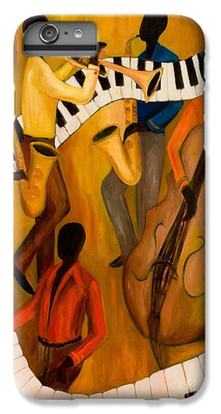 Trumpet iPhone 7 Plus Case - The Get-down Jazz Quintet by Larry Martin