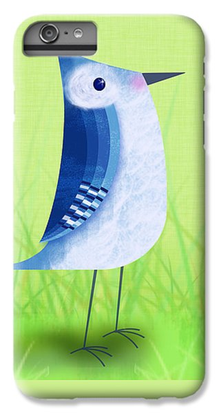 Bluebird iPhone 7 Plus Case - The Letter Blue J by Valerie Drake Lesiak