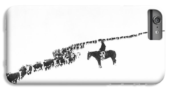 Rural Scenes iPhone 7 Plus Case - The Long Long Line by Underwood Archives  Charles Belden