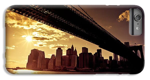 City Sunset iPhone 7 Plus Case - The New York City Skyline - Sunset by Vivienne Gucwa