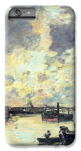 Boats iPhone 7 Plus Case - The Port by Eugene Louis Boudin