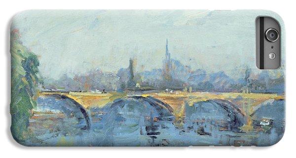 Hyde Park iPhone 7 Plus Case - The Serpentine Bridge, London, 1996 Oil On Canvas by Patricia Espir