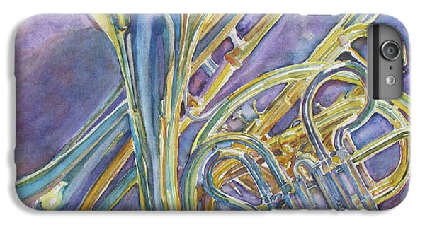 Trombone iPhone 7 Plus Case - Three Horns by Jenny Armitage