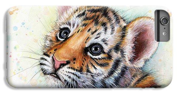 Tiger iPhone 7 Plus Case - Tiger Cub Watercolor Art by Olga Shvartsur