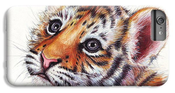 Tiger Cub Watercolor Painting IPhone 7 Plus Case by Olga Shvartsur