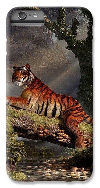 Clemson iPhone 7 Plus Case - Tiger On A Log by Daniel Eskridge