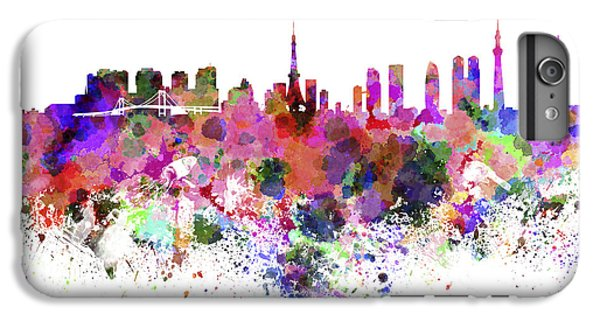 Tokyo Skyline In Watercolor On White Background IPhone 7 Plus Case
