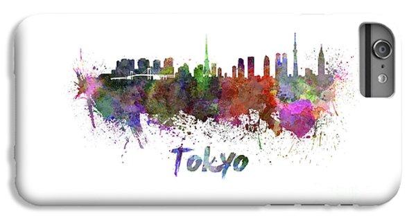 Tokyo Skyline In Watercolor IPhone 7 Plus Case by Pablo Romero