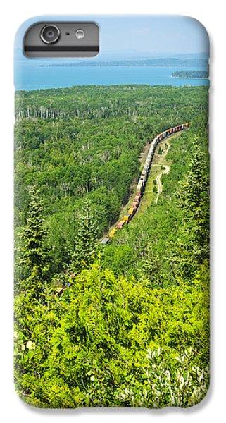 Lake Superior iPhone 7 Plus Case - Train In Northern Ontario by Elena Elisseeva