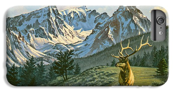 Bull iPhone 7 Plus Case - Trapper Peak - Bull Elk by Paul Krapf