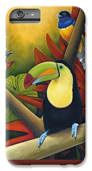 Toucan iPhone 7 Plus Case - Tropical Birds by Nathan Miller