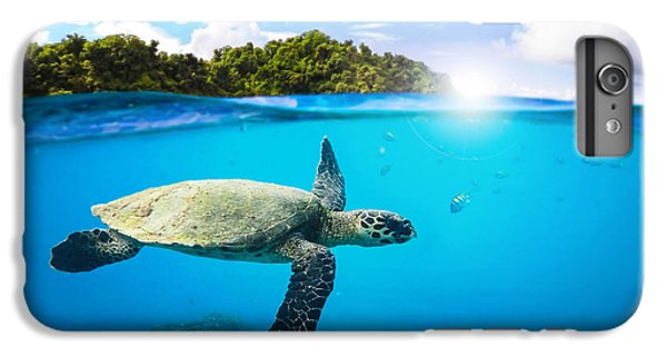 Turtle iPhone 7 Plus Case - Tropical Paradise by Nicklas Gustafsson