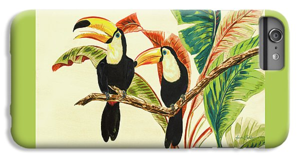 Toucan iPhone 7 Plus Case - Tropical Toucans I by Linda Baliko