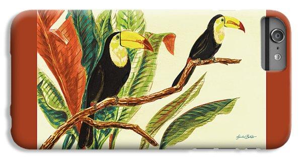 Toucan iPhone 7 Plus Case - Tropical Toucans II by Linda Baliko