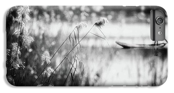 Boats iPhone 7 Plus Case - Trying To Steer My Way... by Charlaine Gerber