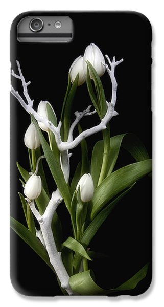 Tulip iPhone 7 Plus Case - Tulips In Tree Branch Still Life by Tom Mc Nemar